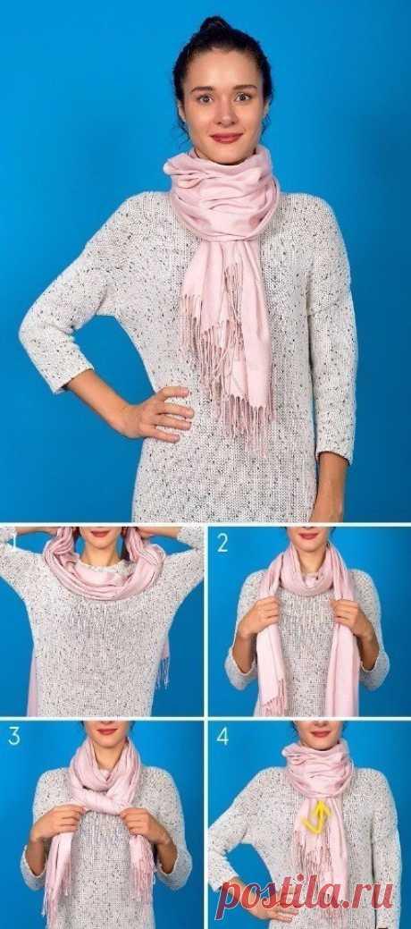 Несколько способов дополнить осенний образ с помощью шарфа - МирТесен