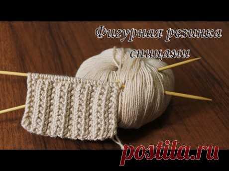 Figured elastic band spokes   Rib knitting stitches