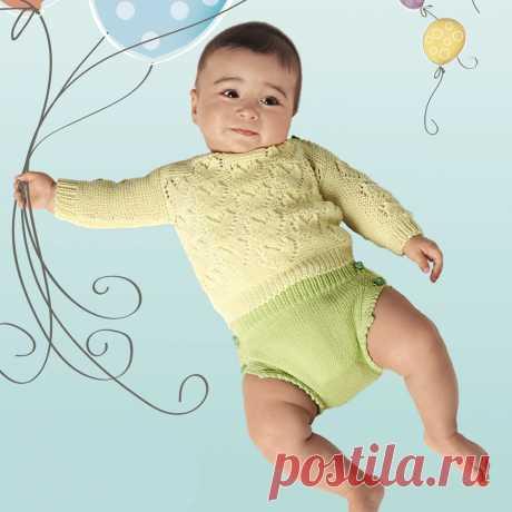Детские трусики на пуговках - схема вязания спицами. Вяжем Брюки на Verena.ru