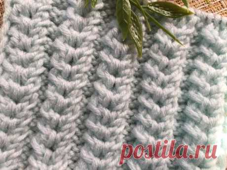 Польская резинка спицами: способы, схема вязания