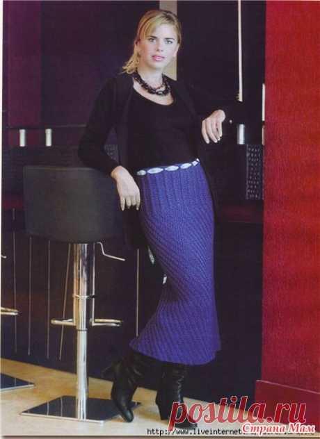 . элегантная юбка - Вязание спицами - Страна Мам