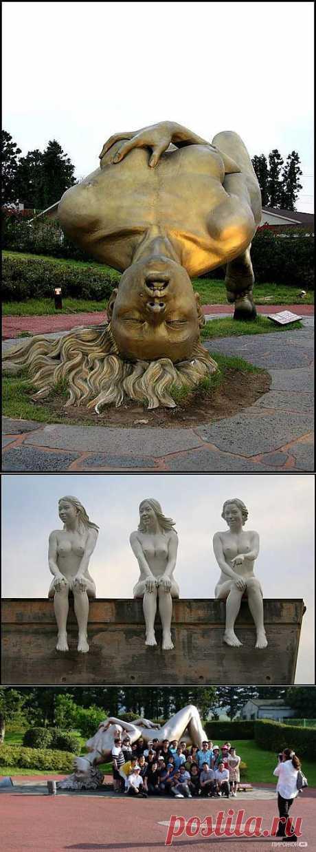 То, что я с вами спорю, не означает, что я отказываю вам в праве на иную точку зрения. - Парк эротической скульптуры Love Land (Лав Лэнд) в Южной Корее (18+).