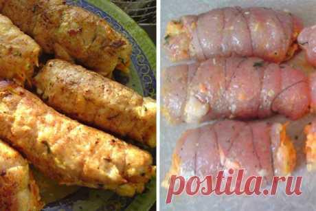 Куриные рулетики «БОЯРСКИЕ»: нежнейшее мясо с ароматной начинкой! Гости их обожают!