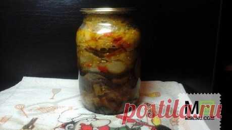 Салат из зеленых помидор с баклажанами - кулинарный рецепт