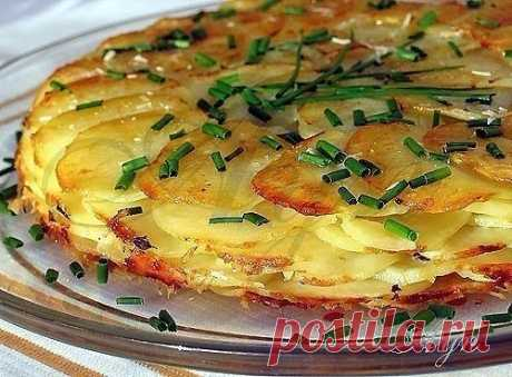 Вкусное и красивое картофельное блюдо