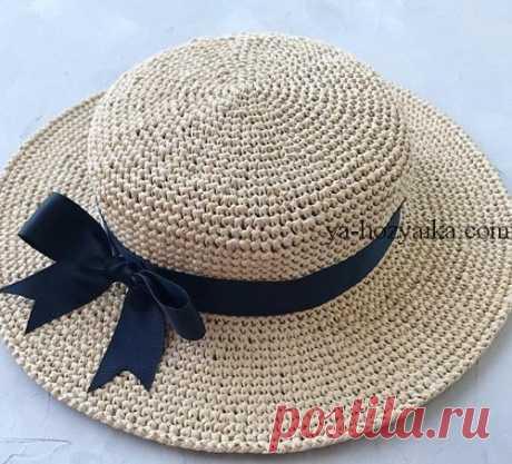 Стильная соломенная шляпка своими руками. Шляпа канотье мастер класс (Вязание крючком) – Журнал Вдохновение Рукодельницы
