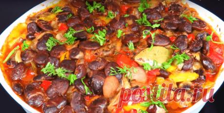 Фасоль с овощами в томатном соусе - Пошаговый рецепт с фото
