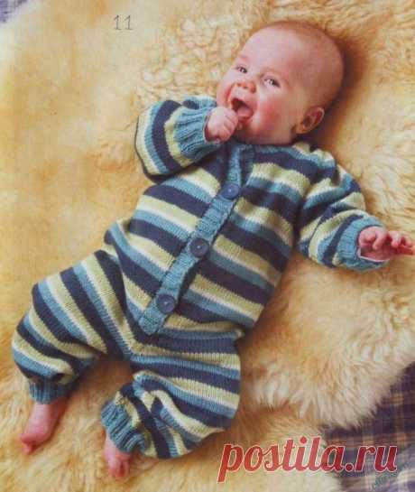 Вязаный комбинезон для малыша спицами   Отлично! Школа моды, декора и актуального рукоделия