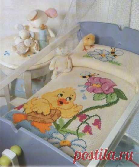 Плед для детской кроватки)))
