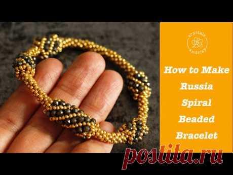 (1) Как сделать браслет из бисера в виде спирали - Кристаллы и глиняные украшения DIY