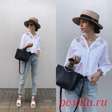 Блузка с кружевной вставкой Модная одежда и дизайн интерьера своими руками