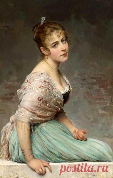 Eugene von Blaas.zhenskie los retratos.