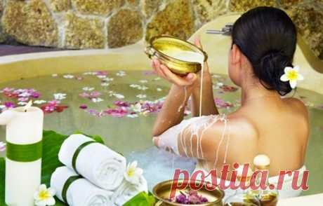 Расслабляющая ванна. Очень полезна для кожи.
