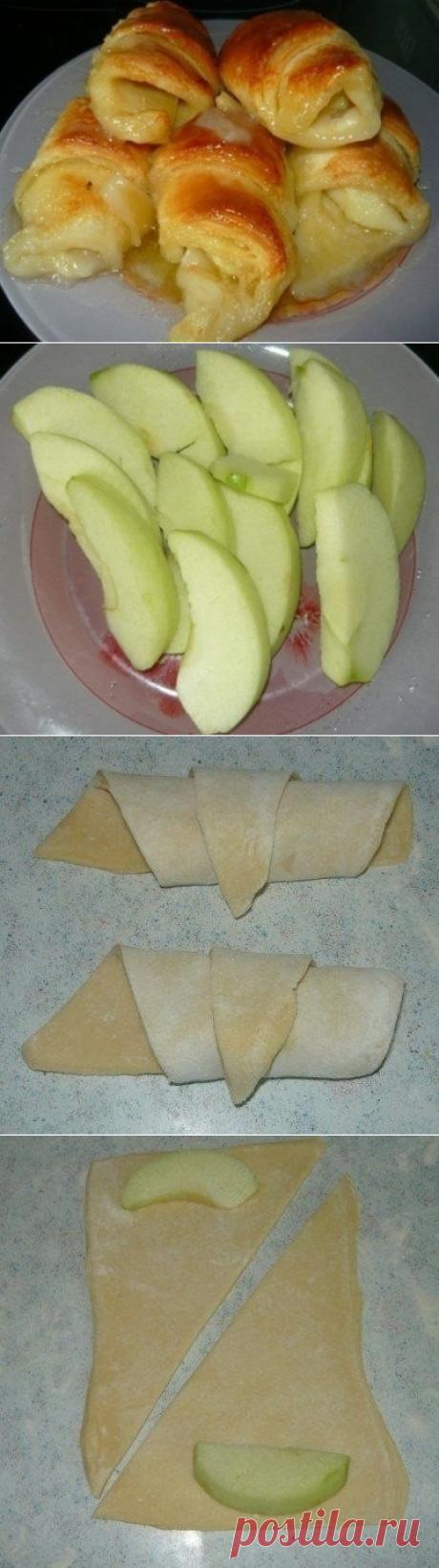 Как приготовить слойки с яблоками - рецепт, ингридиенты и фотографии
