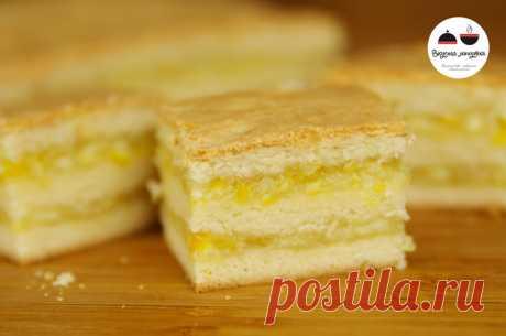 Пирожные с лимонно-апельсиновой начинкой - безумно вкусно!