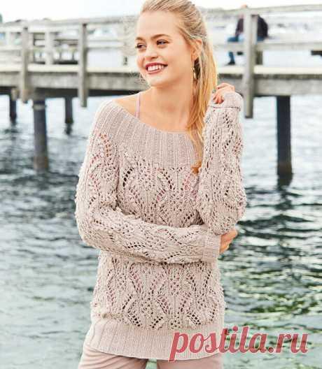 Идеи ажурных вязаных свитеров. Плюс схемы спицами.   Вяжу не жу-жу   Яндекс Дзен