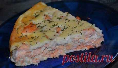 Fast salmon pie