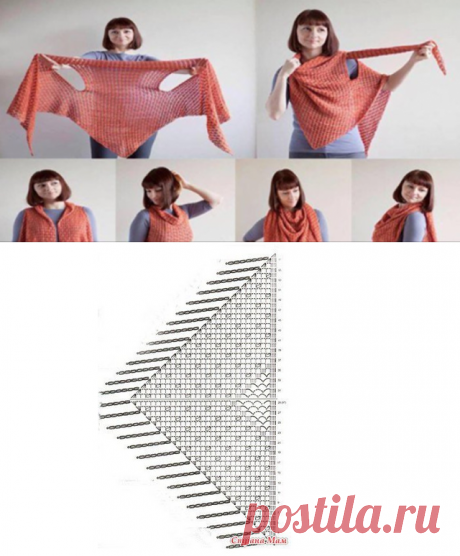 Transforming shawl: the scheme to performance and a master class in knitting...