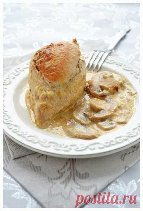 Блюдо очень и очень вкусное! Куриные грудки фаршированные гречкой и шампиньонами | Вкусные рецепты