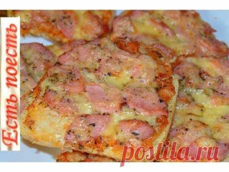 El bocadillo-pizza o la pizza sobre el pan.