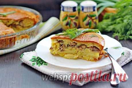 Заливной пирог с сайрой и картошкой рецепт с фото на Webspoon.ru