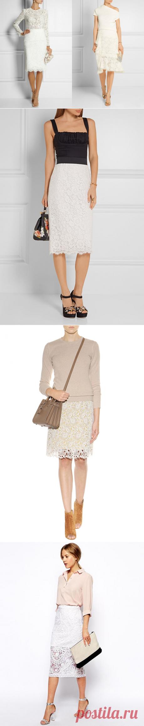 Белая кружевная юбка – воплощение нежности | Мода от Кутюр.Ru