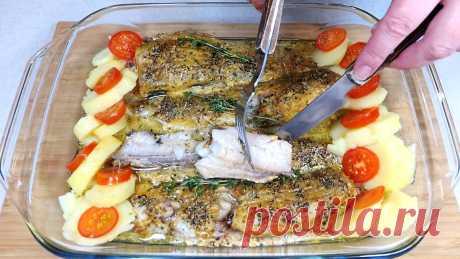 Смазываю минтай горчицей и запекаю в духовке. Простой рецепт вкусной и сочной рыбы | Розовый баклажан | Яндекс Дзен