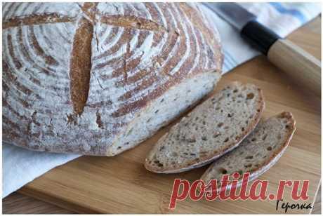 Цельнозерновой хлеб на закваске с семенами льна и зернами пшеницы - Герочка — ЖЖ