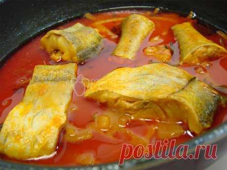 Минтай в томате – Рецепт с фото. Рецепты. Вторые блюда. Блюда с рыбой и морепродуктами
