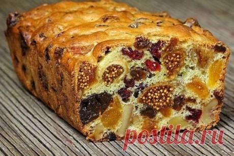 Кекс из сухофруктов: мало теста много ягод