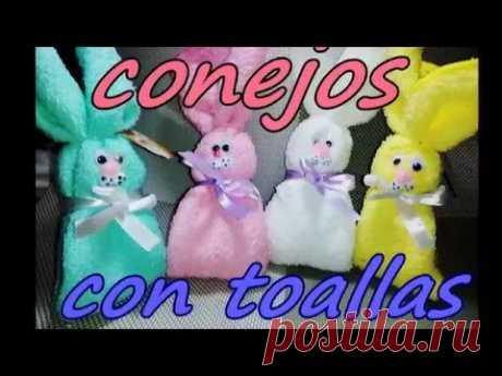 RECUERDOS PARA BABY SHOWER / CONEJOS DE TOALLAS FACIALES - YouTube