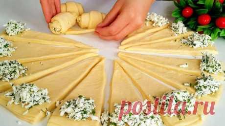 Замечательный рецепт соленых рогаликов с сырной начинкой Такая выпечка всегда к месту!