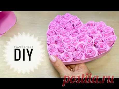 Роза из фоамирана ЗА 5 МИНУТ Rose Foam sheet craft ideas