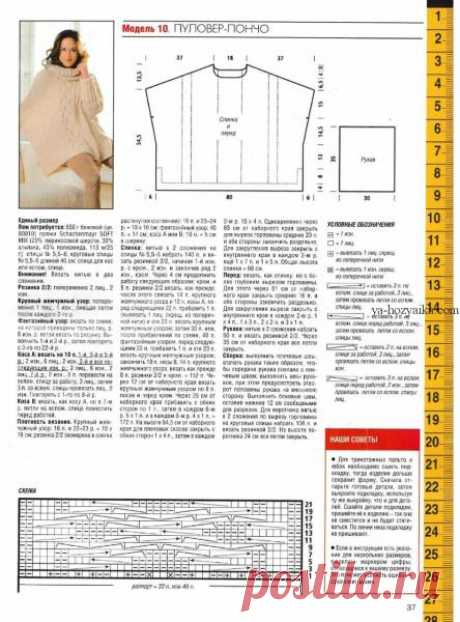 Свитер оверсайз спицами с описанием. Как вязать свитер oversize