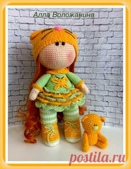 Приглашаю на онлайн по вязанию куколки-малышки , которую мы назвали - Мимоза, за её весеннюю цветовую гамму У вашей куклы может быть совершенно иное цветовое решение .Начало 30 марта 2018 г. Куколка связана из пряжи Джинс от Ярнарт, так же можно использовать Коттон Голд от Ализе или новинку Амигуруми от Картопу Высота куклы получается 23-25 см .Одежда у куклы не съёмная и данный вариант больше подходит , как интерьерная игрушка. Онлайн будет платный, его стоимость будет со...