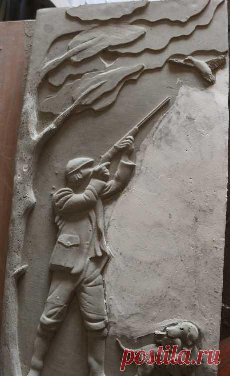 Памятник Охотник с собакой. покрывается черной смолой . Произвожу сам .г.Тавда ,Свердловская обл.  89045471839