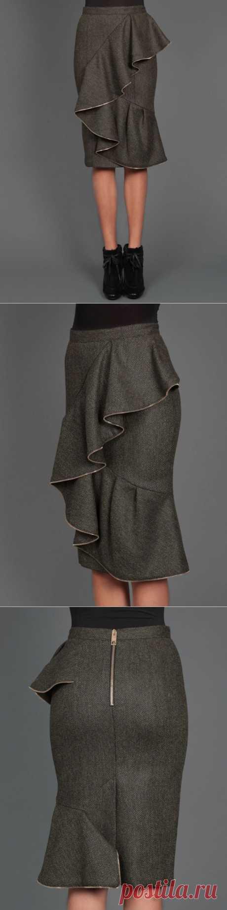 Юбка Burberry с декором из молнии / Декор / Модный сайт о стильной переделке одежды и интерьера