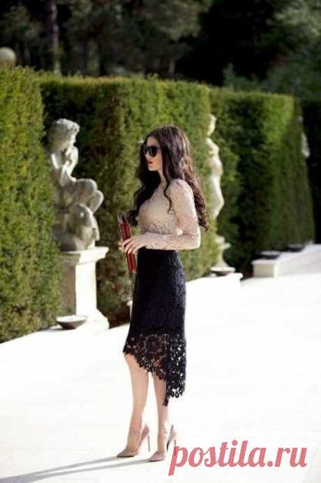 Стильные юбки, украшенные кружевом / Все для женщины