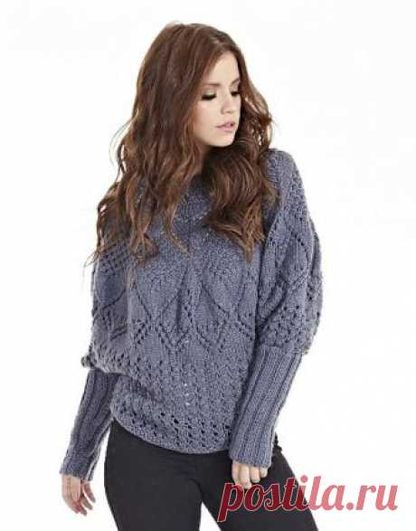 Вязание крючком и спицами - Пуловер фантазийными узорами