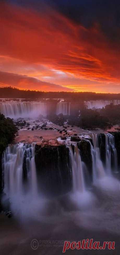 Iguazu Falls, Brazil nature love - Waterfalls Love