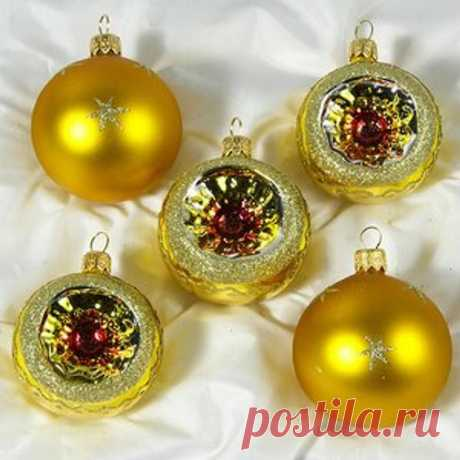 Vintage Soviet Glass Christmas Balls Set Classic Russian | Etsy