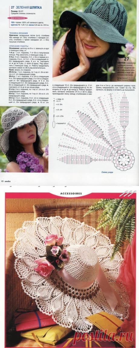 Вяжем Красивые Шляпы — 53 модели крючком для вас | Вязание Шапок - Модные и Новые Модели