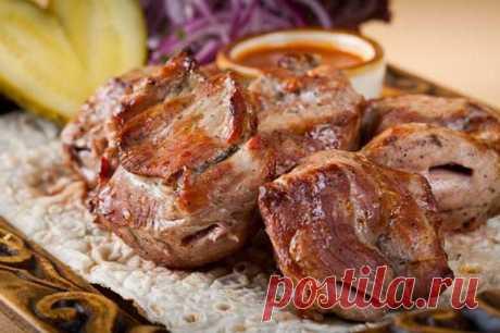 El shashlik por-karski en lavashe - la receta de la foto \/ las recetas Simples