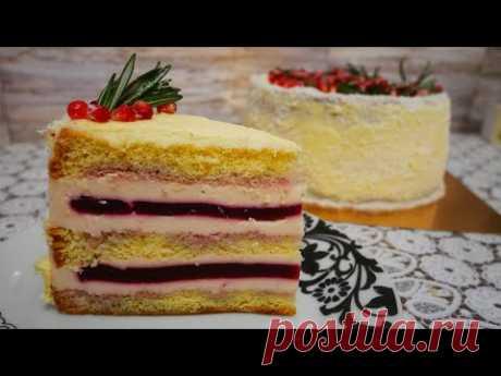 Невероятно ВКУСНЫЙ ЙОГУРТОВЫЙ торт. Украшение ГОЛЫЙ ТОРТ. Сборка и рецепт торта - YouTube
