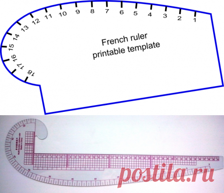 Лекало для построения кривых линий