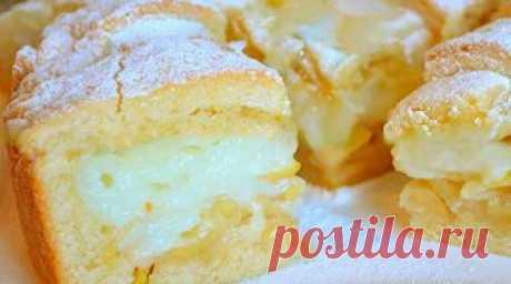 Яблочный пирог с заварным кремом  Если кто-то не пробовал пирог с заварным кремом и яблоками –...