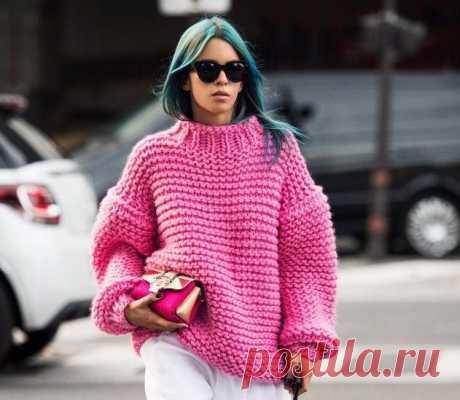5 эффектных свитеров спицами (схемы и описание)   Рукоделие