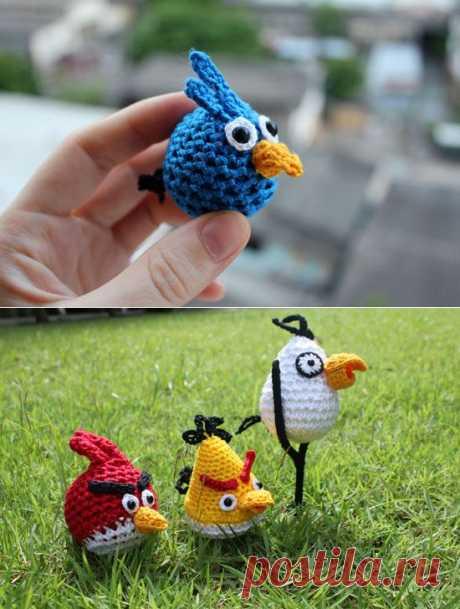 Вязаные птички из игры Angry Birds – мастер-класс | Амигуруми