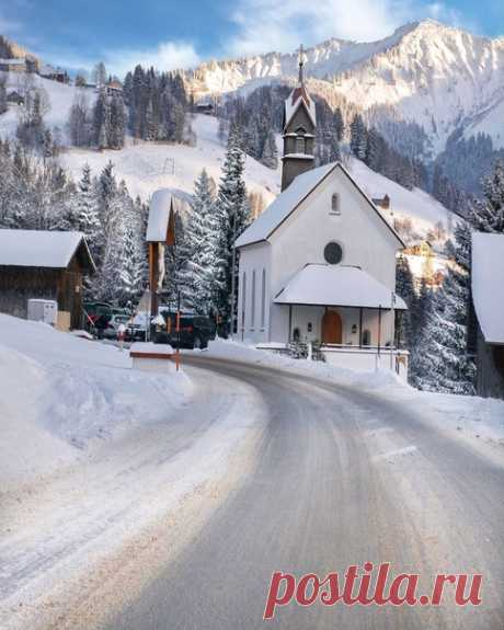 Утро в Австрийской деревне