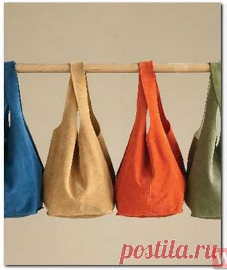 4 выкройки модных сумок из ткани
